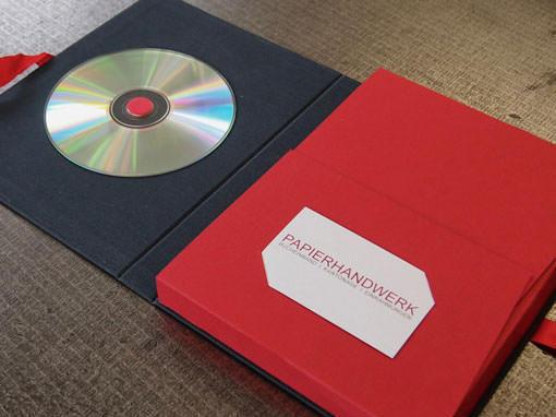 Fotomappe mt CD - Buchbinderei Papierhandwerk