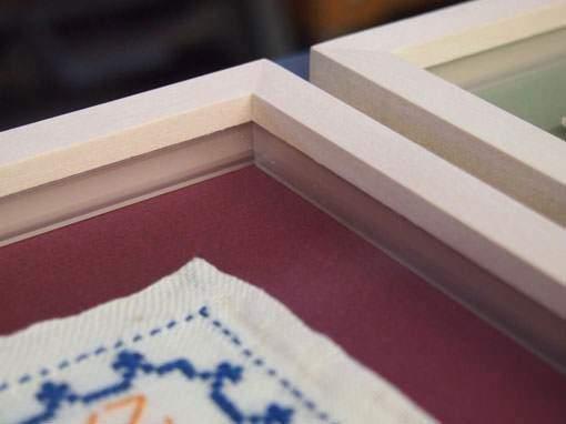 Distanzleisten für Stoffbilder - Einrahmungen Papierhandwerk