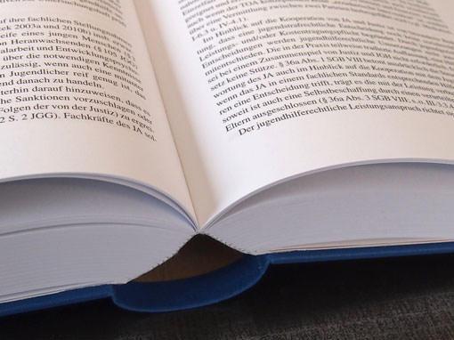 stabile Fadenheftung bei Bibliotheksband - Buchbinderei Papierhandwerk