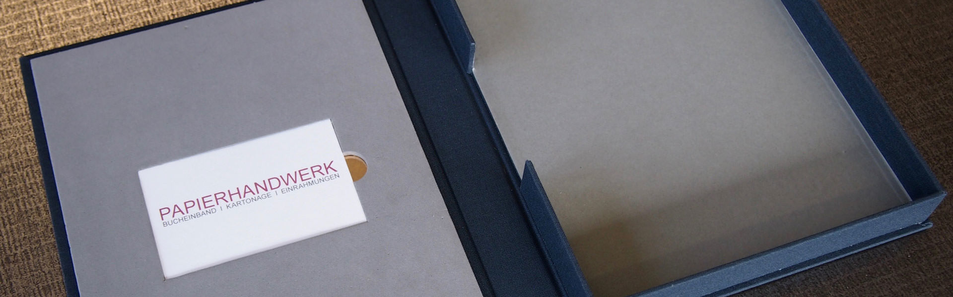 Klappschachtel - Buchbinderei Papierhandwerk
