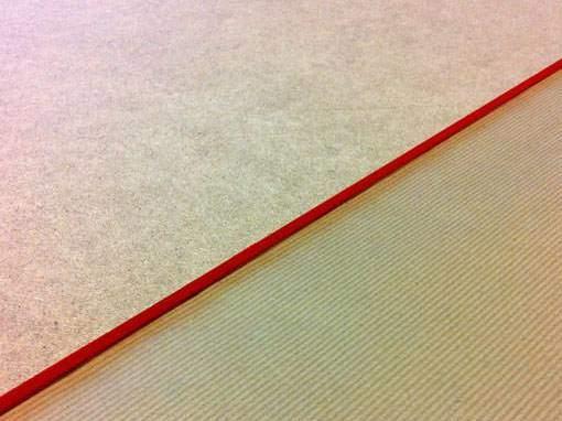 Eingefärbte Kante - Einrahmungen Papierhandwerk