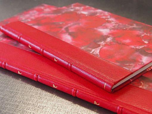 Halblederband mit Handvergoldung - Buchbinderei Papierhandwerk