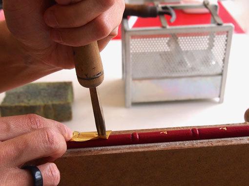 Handvergolden - Buchbinderei Papierhandwerk