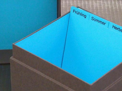 Karteischachtel - Buchbinderei Papierhandwerk