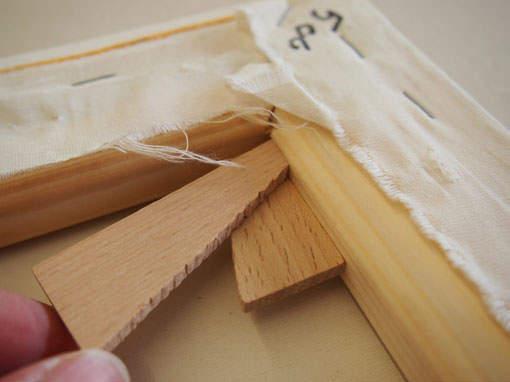 Keile für Leinwandbild spannen - Einrahmungen Papierhandwerk
