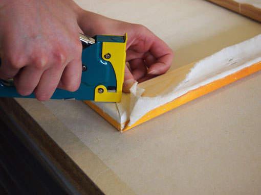 Bild auf Keilrahmen spannen - Einrahmungsatelier Papierhandwerk