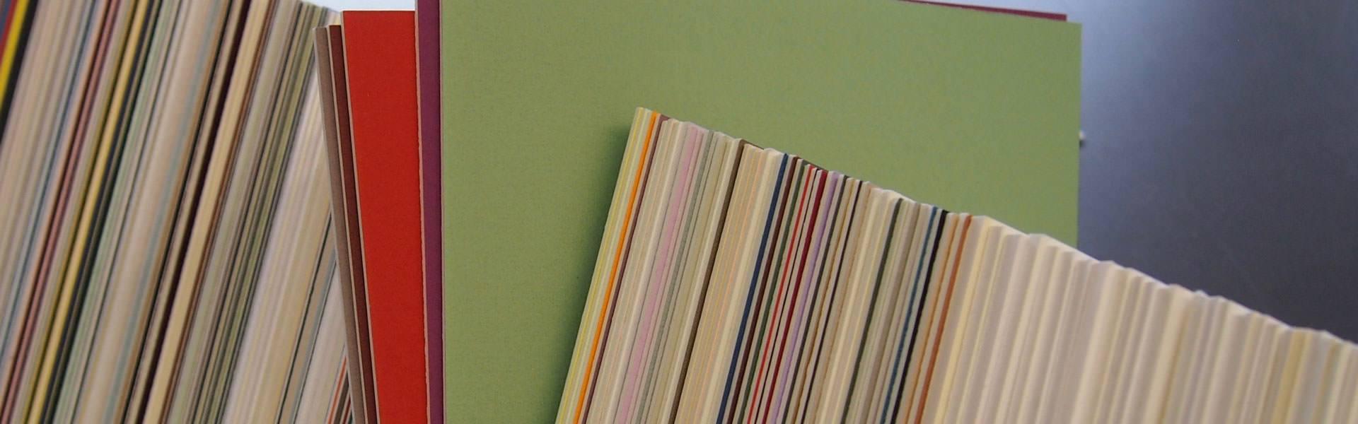 Passepartoutskarton - Buchbinderei Papierhandwerk