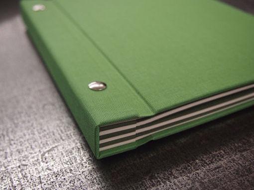 Gästebuch mit Schraubenbindung - Buchbinderei Papierhandwerk