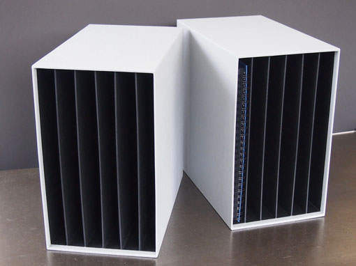 Schuber mit Unterteilung für Alben - Buchbinderei Papierhandwerk