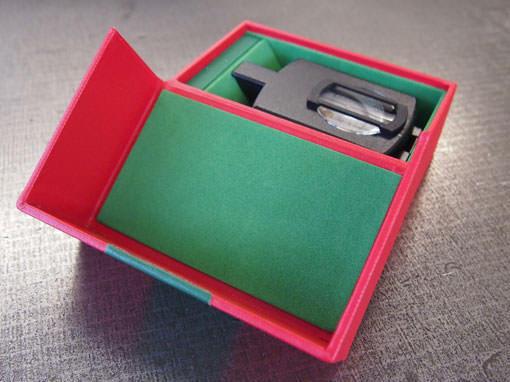 Verpackung für einen Kompass - Buchbinderei Papierhandwerk