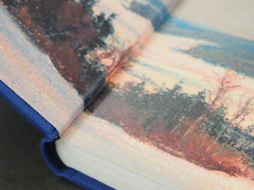 Vorsatz bedruckt - Buchbinderei Papierhandwerk