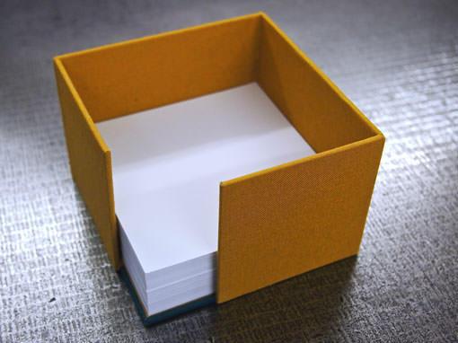 Zettelbox - Buchbinderei Papierhandwerk