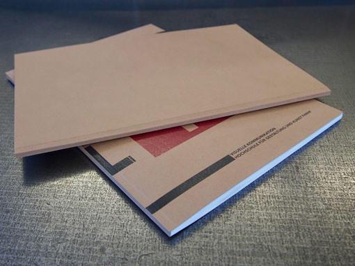 Portfolio mit 4x gerilltem Umschlag - Buchbinderei Papierhandwerk