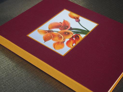 Geschenkbuch mit Bild in Vertiefung - Buchbinderei Papierhandwerk